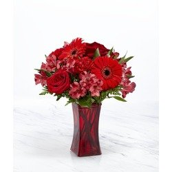 The FTD Red Reveal Bouquet