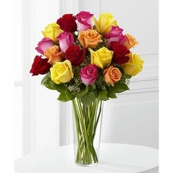 Bright Spark Rose Bouquet