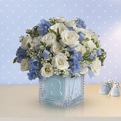 Baby's First Block by Teleflora - Blue