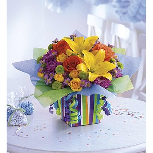 Funeral Flowers Gift Baskets International Delivery San Francisco Favorites Rainbow Present