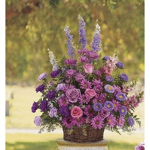 Brockton ma flower delivery same day 1st in flowers gracious lavender basket mightylinksfo