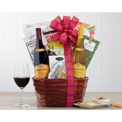Mark West Red And White Wine Duet Gift Basket