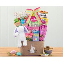 Easter Bunny And Sweets Gift Basket