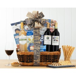 Wine and Snack Gift Basket
