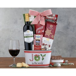 Kiarna Vineyards Merlot Holly Jolly Gift Basket