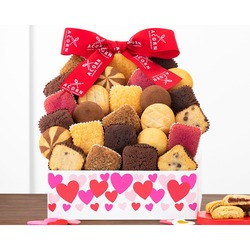 Valentine's Day Cookie and Brownie Tower