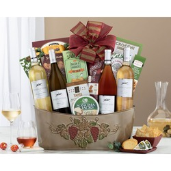 Cliffside Vineyards California Quartet Wine Basket