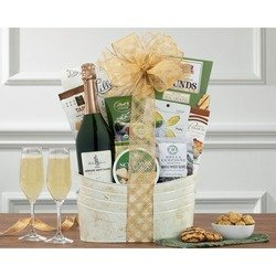 Bertrand Cuve Thomas Jefferson Brut Wine Basket