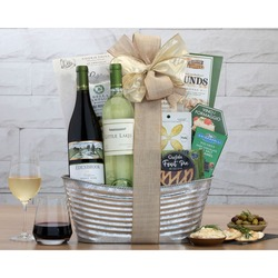 California Pinot Noir And Chardonnay Wine Basket