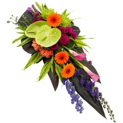 Funeral Spray in Vibrant Colours