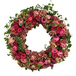 Traditional funeral wreath