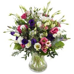 Mixed lisianthus bouquet (Vase not Included)