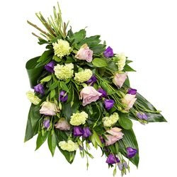 Funeral Sheaf in Green and Purple