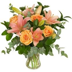 Bouquet with lilies (Vase not included)