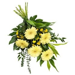 Funeral Sheaf in Soft Colours