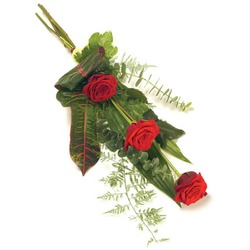 Red Rose funeral bouquet