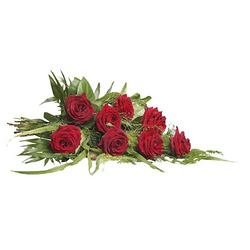 Red Funeral Bouquet