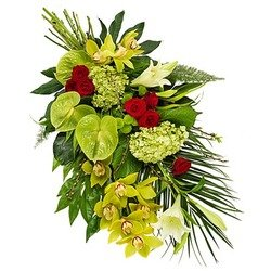 Funeral Bouquet in Green Shades
