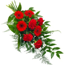 Funeral Sheaf in Red Colours