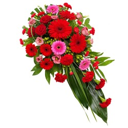 Funeral Spray in Red and Pink