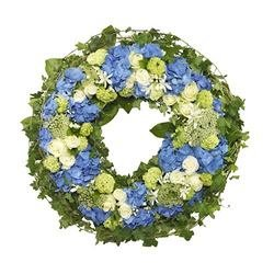Funeral Wreath (Blue and White)