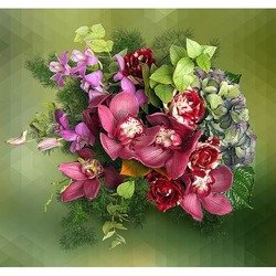 Arrangement of Pink Cymbidium