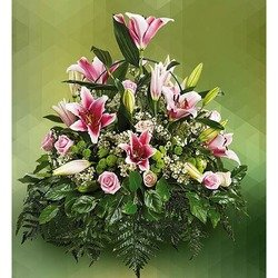 Sympathy Arrangement of Lilies
