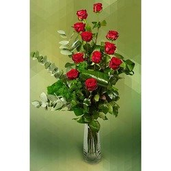 Unarranged 12 Red Roses (Vase not Included)