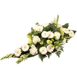 Classic White Funeral Spray
