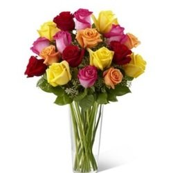 Bright Spark Rose Bouquet (Vase Not Included)