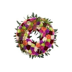 Round decorated wreath