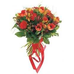 Red Mixed Cut Flowers