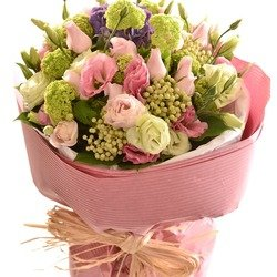 Bouquet of Cut Flowers Pastel Pinks (Vase Not Included)