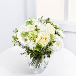 Romantic Bouquet in White Colours (Vase Not Included)