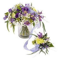 Full of happiness, lilac-white (Vase not included)