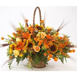 Basket Arrangement in Orange