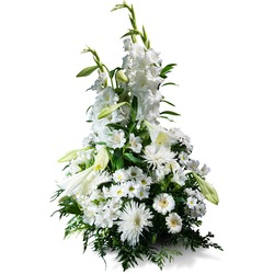 Vertical Bouquet in white shades (Vase Not Included)