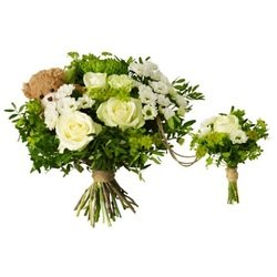 Baby birth bouquet with teddy bear White (Vase Not Included)