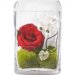 For my Love with Swarovski Crystal Heart (including Vase)