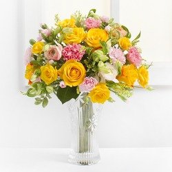 Delicate Bouquet in Yellow Colors (Vase not Included)