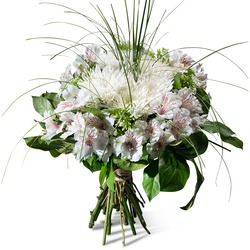 Condolence bouquet in white shades (Vase Not Included)