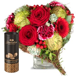 Only for You, with Gottlieber cocoa almonds (Vase not included)