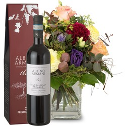 Colorful flower dream with Ripasso Albino Armani DOC (75cl) (Vase not included)
