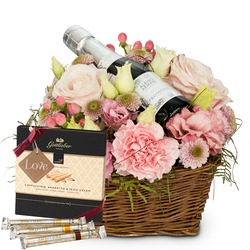 "Flower Fairy with Prosecco Albino Armani DOC (20cl), Gottlieber Hüppen and hanging gift tag ""Love"""