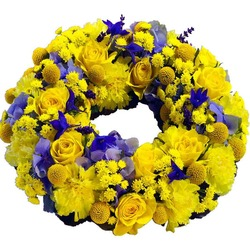 Wreath in Yellow and Blue