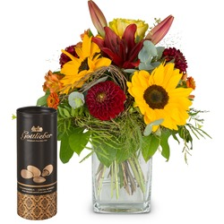 August Bouquet of the Month and Gottlieber cocoa almonds