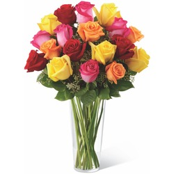 The FTD Bright Spark Rose Bouquet