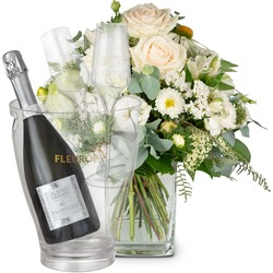 Summer Pearl with Prosecco Albino Armani DOC (75 cl), incl. ice bucket and two sparkling wine flutes