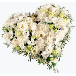Funeral Heart in White