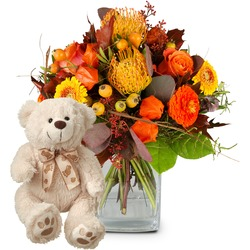 Spirit of Indian Summer with teddy bear (white)